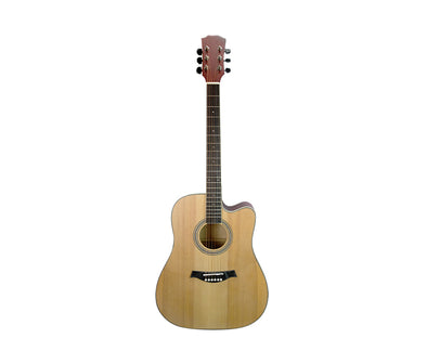 "41"" Full Size Acoustic Guitar Steel String Cutaway C41"