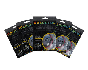 5 Pack Coloured Acoustic Guitar Strings