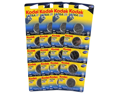 10 Pack Kodak CR2016 - BULK  Ultra Lithium 3V Button Batteries