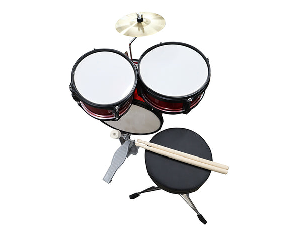 3 Piece Kids Drumkit Cymbal Stool Sticks Drums Set Childrens DK100