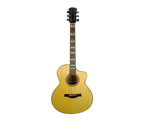 "41"" Full Size Acoustic Guitar Steel String Glossy Cutaway E41G"