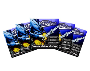 5 Pack Electric Guitar Strings - Medium Gauge