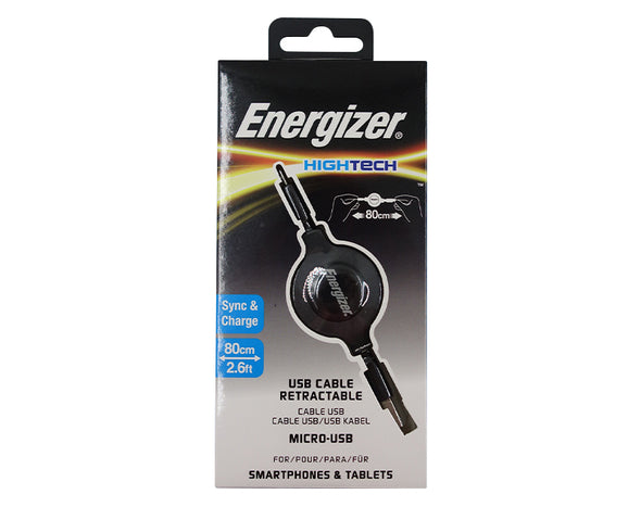 10x Micro USB Cable Energizer - Retractable C31