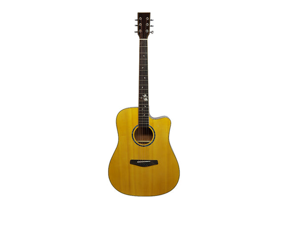 "41""D Acoustic Guitar Cutaway Natural F41DSMEQ"