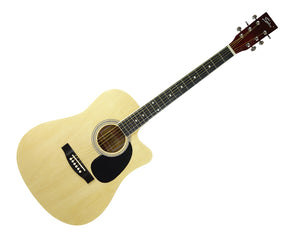 "Freedom 41"" Semi Acoustic Guitar Built-In Pickup Steel String FAG645"