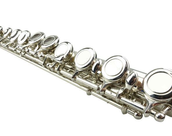 16-Key C Flute Nickel Plated Student Beginner Hard Case 1919FL (Refurbished)