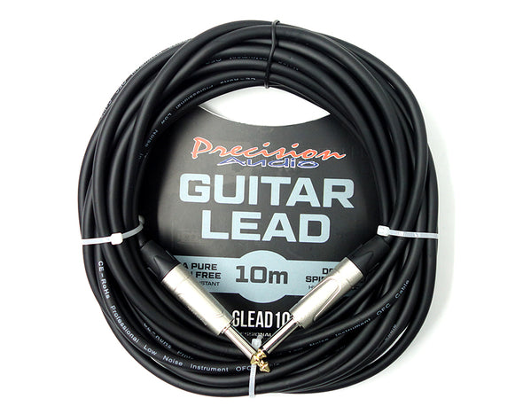 "1/4"" To 1/4"" 6.35mm Studio Stage Guitar Lead 10m GLEAD10"