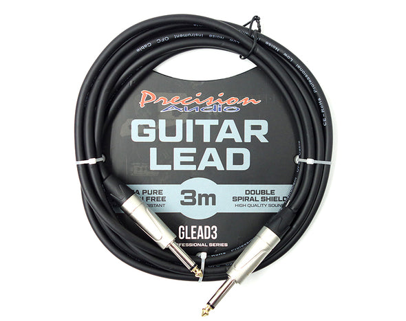 "1/4"" To 1/4"" 6.35mm Studio Stage Guitar Lead 3m GLEAD3"