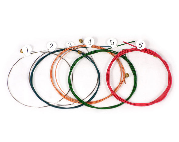 Coloured Acoustic Guitar Strings