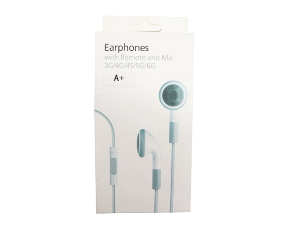 Earphones with Remote & MIC 3G/4G/4S/5G/6G IP509