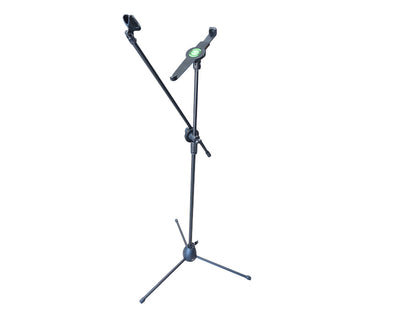 2-in-1 Tablet and Microphone Stand with Adjustable Boom Arm IP-70B