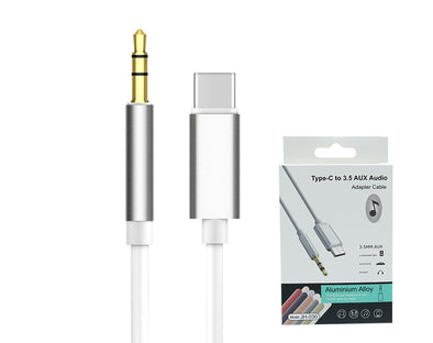 Type-C to 3.5mm AUX Audio Cable Stereo Aluminium JH030