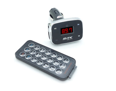 Car FM Transmitter with Bluetooth USB LCD Display and Remote K2527