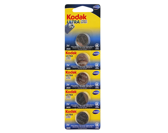10 Pack Kodak CR2025 50 - BULK  Ultra Lithium 3V Button Batteries