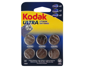 Kodak CR2016/25/32 Multipack  Ultra Lithium 3V Button Batteries