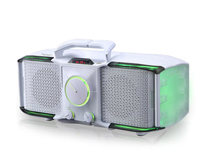 Portable Party Speaker 120W Rechargeable Battery Flashing Lights LG206