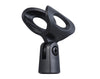 Single Microphone Clip Holder Screw-On Adjustable M8