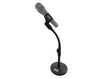 Flexible Desk Mic Stand Sturdy Metal Base Gooseneck Mic Clip MCS410S