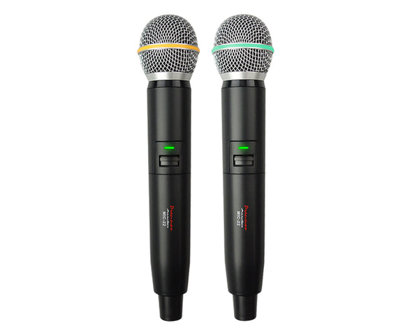 Twin Channel Wireless Microphone System MIC22