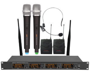 4 Channel Wireless Microphone System