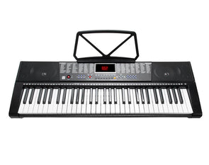 61 Key Full Size Electronic Keyboard Light Up Keys Note Stand MK2108