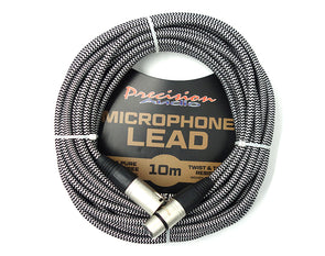 XLR to XLR Braided Microphone Lead Low Noise MLEADWEAVE10 10m