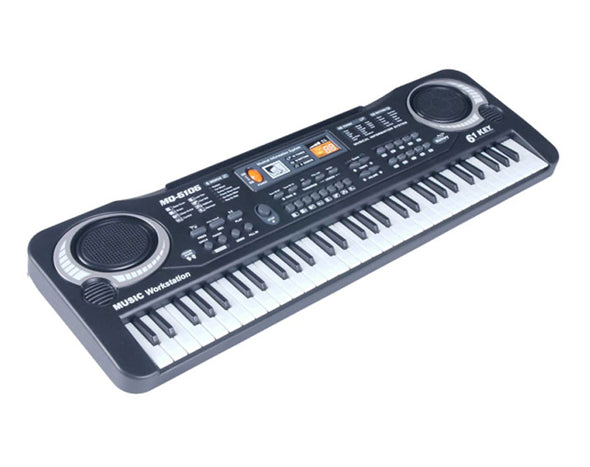 61 Key Kids Electronic Keyboard Record Playback Wired Microphone MQ6106