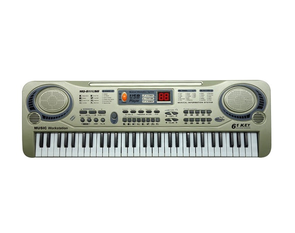 61 Key Kids Electronic Keyboard 55cm USB Input Wired Microphone MQ811USB