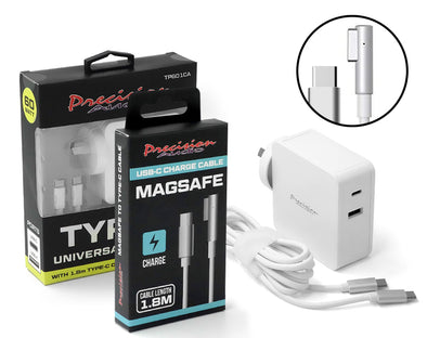 MagSafe 1 Cable Macbook Charger Kit - Cable + USB Type-C Universal Charger CTAL001 TP601CA