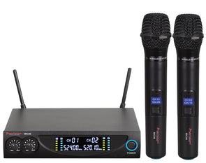 Twin Wireless Microphone System