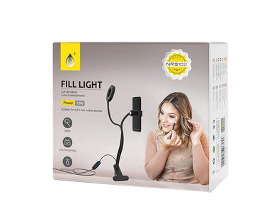 2 IN 1 SELFIE  Ring Light With 9CM LED ON STAND NR9102