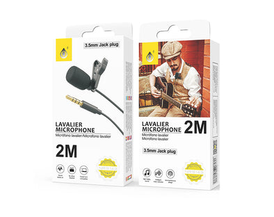 Mini Microphone 3.5mm Audio JACK With Lapel Clip NR9143