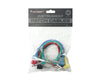 "Instrument Patch Cables 1/4"" 6.35mm Guitar Effects Pedal 15cm 6 Pack PC01"