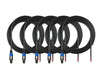 5 Pack Speakon to Loose Wire Cable Amp Mixer Speaker 5m SPEAKONLOOSE