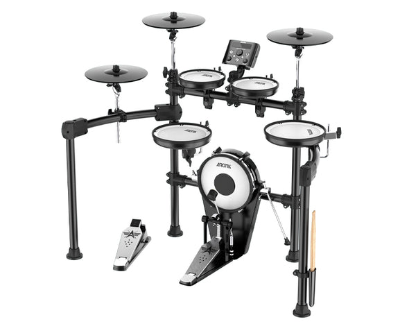 5 Piece Professional Electronic Drumkit Drums Rack Toms Snare Pedal Practice TDX-25S
