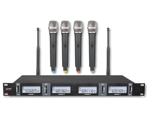 4 Channel UHF Microphone System