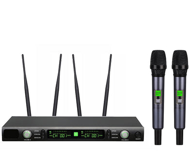 Professional Twin Channel Wireless Microphone