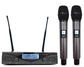 Twin Channel Wireless Microphone System
