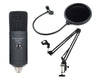 USB Mic Kit USB Microphone Shock Mount Boom Arm Pop Filter USBMIC2KIT