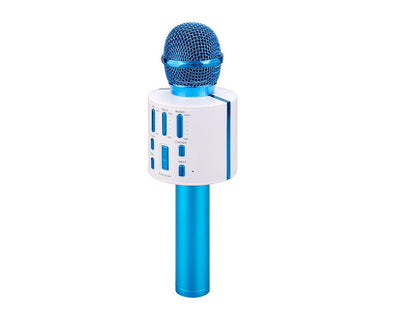 Bluetooth Wireless Karaoke Microphone V8 Blue