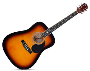 "Freedom 41"" Acoustic Guitar Steel String Sunburst AG300"
