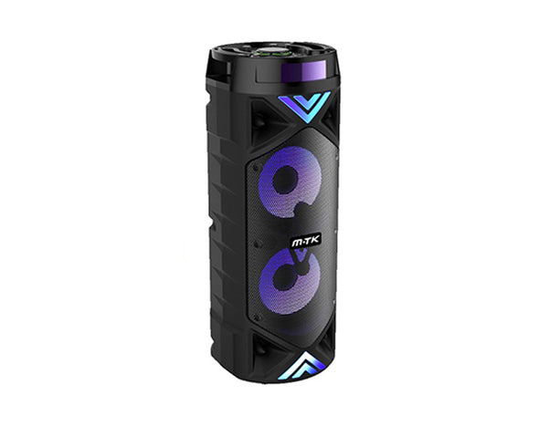 Bluetooth Party Speaker with FM Radio Flashing Lights Remote Control FT008 ZQS62