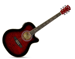 "Freedom 40"" Cutaway Semi Acoustic Guitar with Built-In Pickup MJG304"