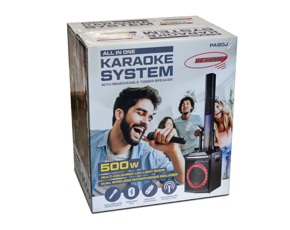 Weconic Karaoke Party Speaker System with Dual Wireless Microphones PA80J