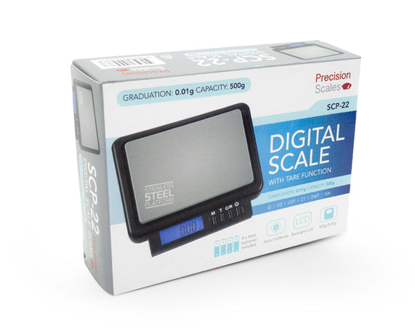 Mini Precision Digital Scale with Large Platform (<500g)