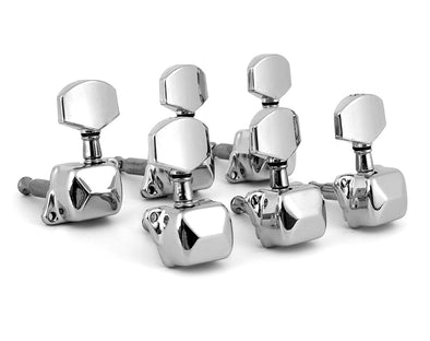 Tuning Pegs Semi-Closed Machine Heads for Acoustic Guitar Chrome 3L+3R Set 6pc K807