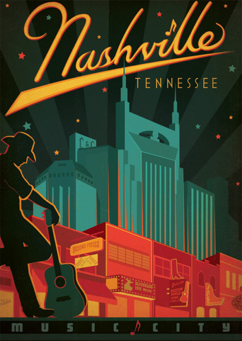 Spirit of Nashville Broadway Print