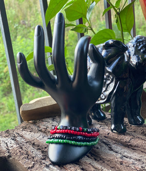 4-Piece Black Lives Matters bracelet set (Clearance)