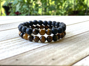 Tiger's Eye Energy Bracelet Set