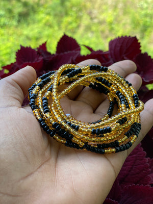 Black & Gold 2-piece waistbeads set